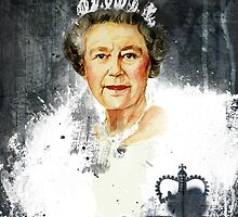 The Queen - Elizabeth II by Mark Dickson