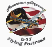 B-17 Flying Fortress American Airpower Kids Tee