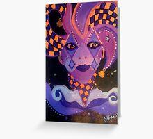 Enchanted Harlequin Greeting Card