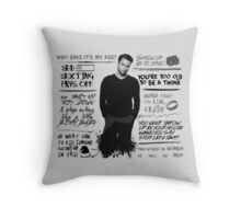 Connor Walsh + Quotes Throw Pillow