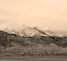 December 16th Twin Peak Sunrise Sepia View by Bo Insogna