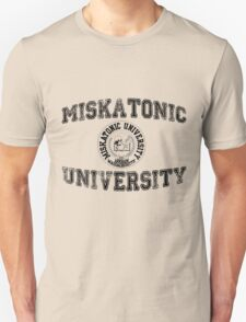 Miskatonic University (Black version) Unisex T-Shirt