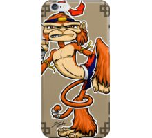 muay thai monkey iPhone Case/Skin