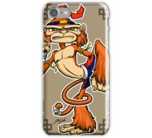 muay thai monkey iPhone Case/Skin