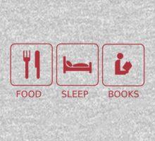 Food Sleep Books One Piece - Short Sleeve