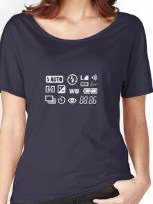 Camera Display  Women's Relaxed Fit T-Shirt