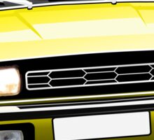 Austin Allegro illustration yellow Sticker