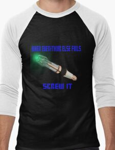 Doctor Who Sonic Screwdriver Motto Men's Baseball ¾ T-Shirt