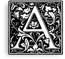 William Morris Renaissance Style Cloister Alphabet Letter A Canvas Print