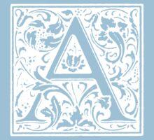 William Morris Renaissance Style Cloister Alphabet Letter A Kids Clothes