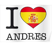 I ♥ ANDRES Poster