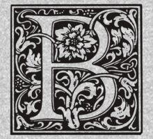 William Morris Renaissance Style Cloister Alphabet Letter B Kids Clothes