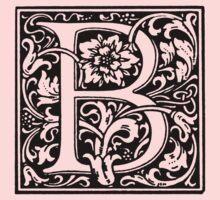 William Morris Renaissance Style Cloister Alphabet Letter B by Pixelchicken