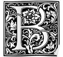 William Morris Renaissance Style Cloister Alphabet Letter B Poster
