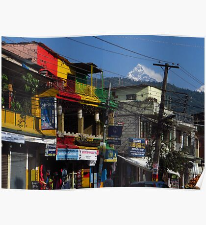 Jamaican Colours, Pokhara, Nepal Poster