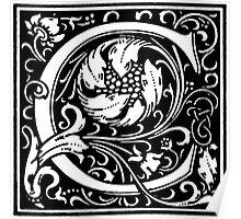 William Morris Renaissance Style Cloister Alphabet Letter C Poster