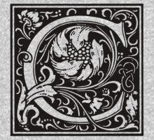 William Morris Renaissance Style Cloister Alphabet Letter C T-Shirt
