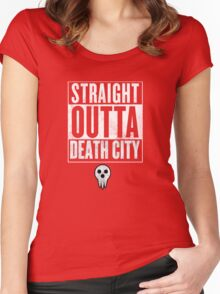 Soul Eater Straight Outta Death City Women's Fitted Scoop T-Shirt
