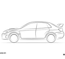 Design Lines - Subaru WRX STI by bpotstra