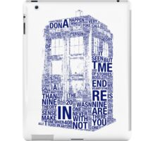 Tardis of quotes  iPad Case/Skin