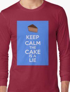 Keep Calm The Cake Is A Lie Long Sleeve T-Shirt