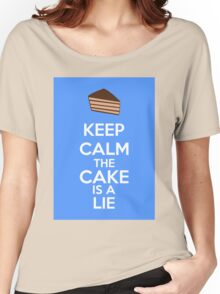 Keep Calm The Cake Is A Lie Women's Relaxed Fit T-Shirt