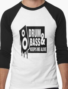 Drum Bass Men's Baseball ¾ T-Shirt