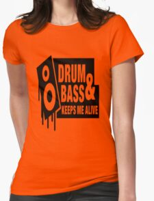 Drum Bass Womens Fitted T-Shirt