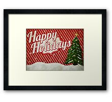 Retro Holidays Framed Print