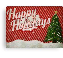 Retro Holidays Canvas Print