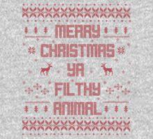 Merry Christmas You Filthy Animal (Red) Kids Tee