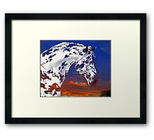 Spot in a Sunset Framed Print