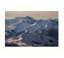 Montagnes Impénétrables Art Print