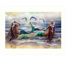 By the Sea,...By the Beautiful Sea Art Print