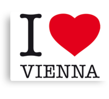 I ♥ VIENNA Canvas Print