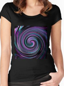 Twirl abstract design Women's Fitted Scoop T-Shirt