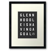Glenn Hoddle is having a goal Framed Print