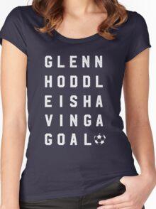 Glenn Hoddle is having a goal Women's Fitted Scoop T-Shirt