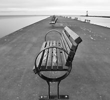 Bench on pier by carlrittenhouse