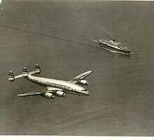 Lockheed TWA Constellation by John Schneider