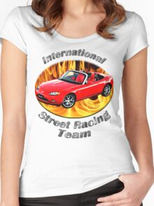 Mazda MX-5 Miata Street Racing Team Women's Fitted Scoop T-Shirt