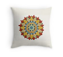 Colorful Mandala Sign Little Dots Throw Pillow