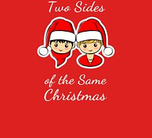 Two Sides of the Same Christmas Unisex T-Shirt