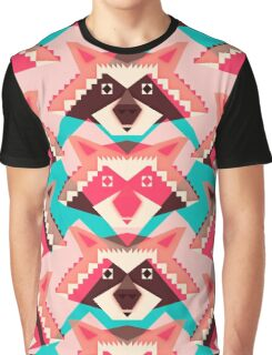 Raccoons and hearts Graphic T-Shirt
