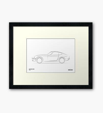 Design Lines - Datsun 240Z Framed Print