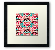 Raccoons and hearts Framed Print