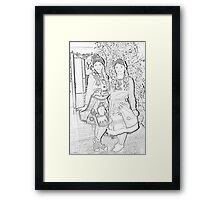 Two Elves For Christmas Framed Print