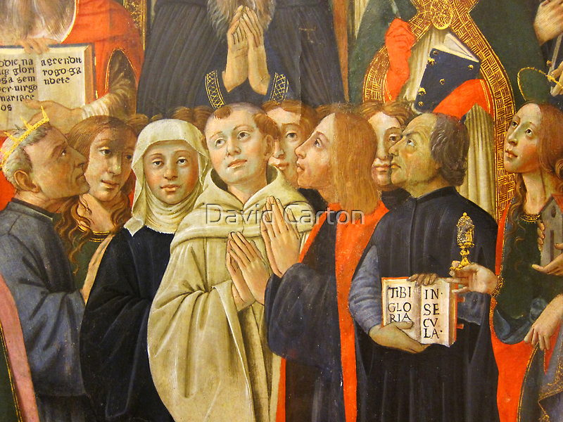 Detail from the coronation of the virgin, Bandini Museum, Fiesole, Italy by buttonpresser