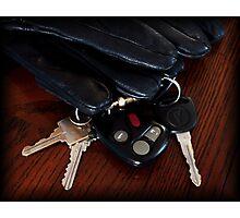 Gloves & Keys Photographic Print