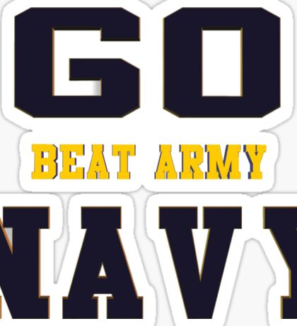 Go Navy, Beat Army!! Sticker
